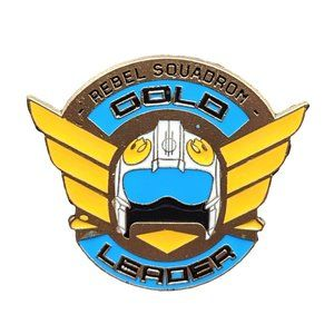 Star Wars Disney Pin: Rebel Squadron Gold Helmet